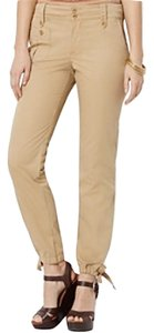 Ralph Lauren Straight Cargo Cotton Capri/Cropped Denim-Light Wash