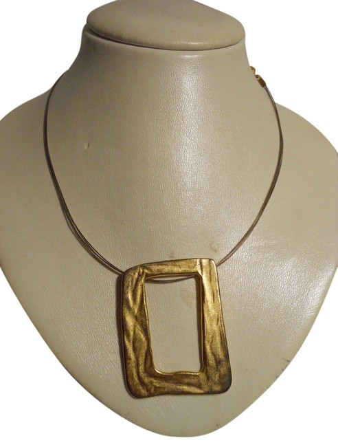 Chico's Brushed Gold Wire Necklace Chico's Brushed Gold Wire Necklace Image 1