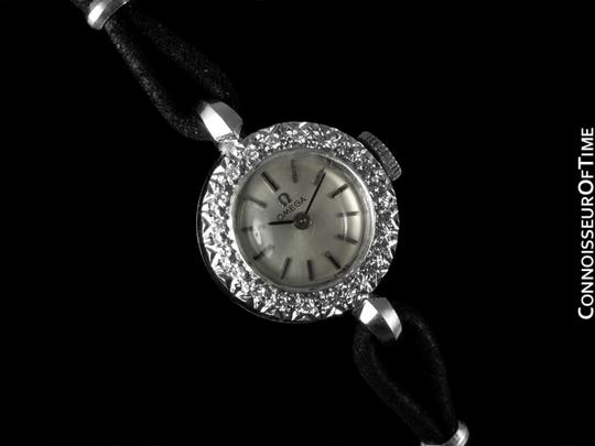 Omega 1969 Omega Vintage Ladies Watch - 14K White Gold &Diamonds
