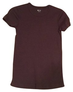 Three Dots T Shirt Brown cotton