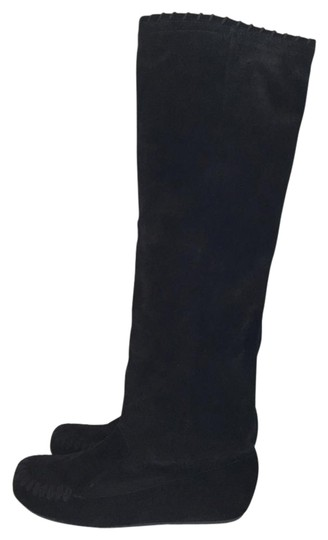 Preload https://img-static.tradesy.com/item/552175/lanvin-black-hidden-wedge-suede-moccasin-bootsbooties-size-eu-38-approx-us-8-regular-m-b-0-3-540-540.jpg