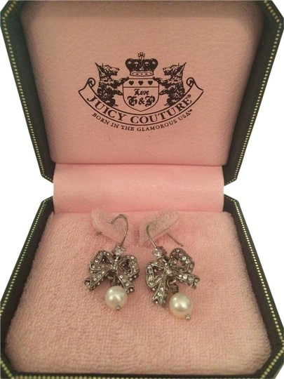 Preload https://item5.tradesy.com/images/juicy-couture-silver-pearl-bow-earrings-5521819-0-1.jpg?width=440&height=440