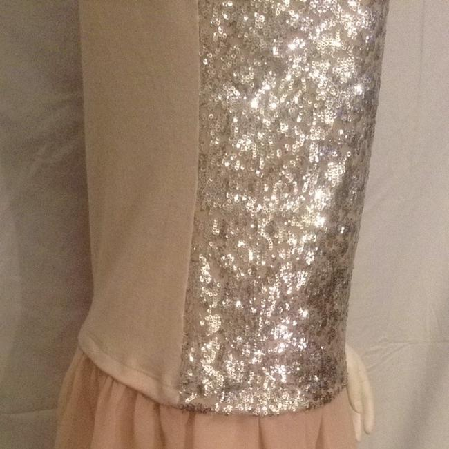 Lily White Top Cream/Silver Sequin
