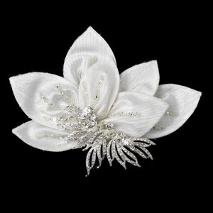 Exquisite Floral Garden Rhinestone Encrusted Wedding Bridal Hair Clip