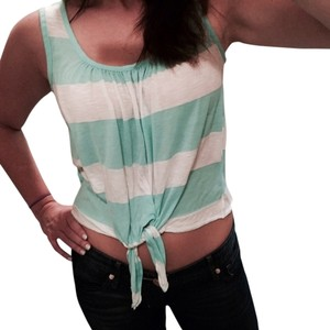 Soprano Tie Summer Casual Top Mint