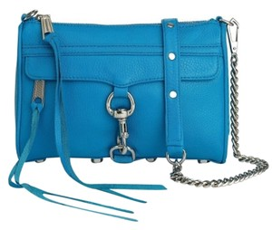 Rebecca Minkoff Mac M.a.c. Mini Mini Mac Leather Blue Crossbody Shoulder Bag