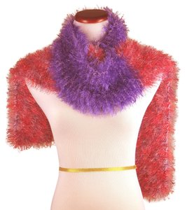 NOW AND ZHEN * FAUX FUR SCARVES NOW AND ZHEN * FAUX FUR SCARVES * SHADES OF ROSE, VIOLET AND SILVER