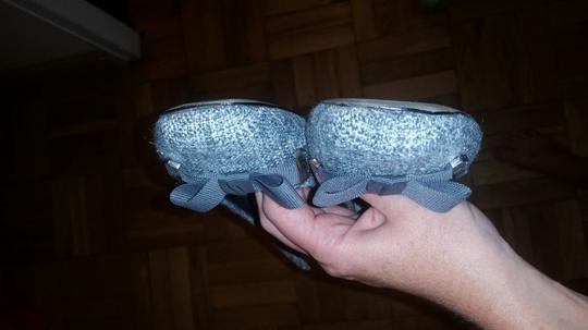 Banana Republic Tweed Ballet Bow Grey Flats