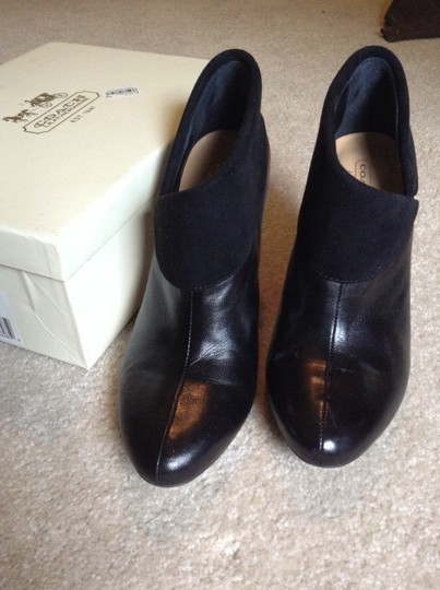 Coach A3506 Annika Soft Leather Leather Suede Black Boots