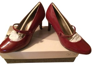 Hush Puppies Patent Mary Jane Red Pumps