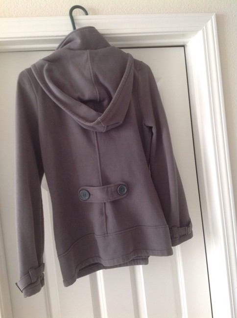 Item - Gray Glimmer By Fleece Double-breasted Coat Size 8 (M)