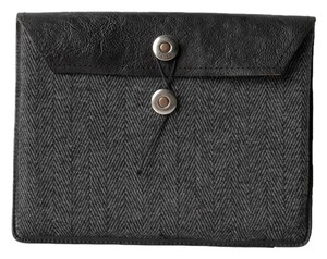 Fossil fossil tweed wool iPad cover sleeve leather black