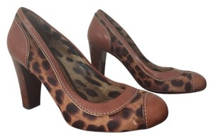 Dolce&Gabbana Leather Animal Leopard Print and Brown Pumps