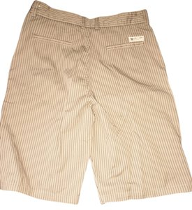 Men's dc shorts Board Shorts Tan and black striped