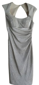 Xscape Rhinestones Metallic Ruched Dress