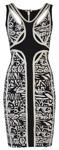 Hervé Leger And Slimming Bandage Cocktail Halter Classy Corozo Combo Printed Timeless Comfortable Girls Bachelorette Edgy One Dress