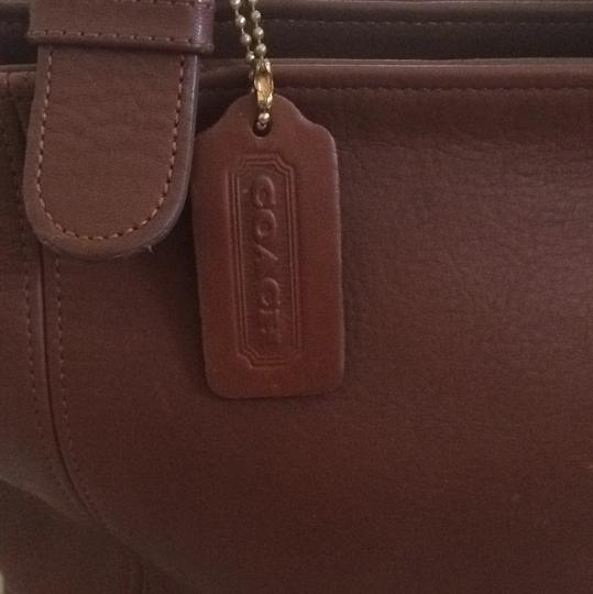 Coach Satchel in Laugage Brown