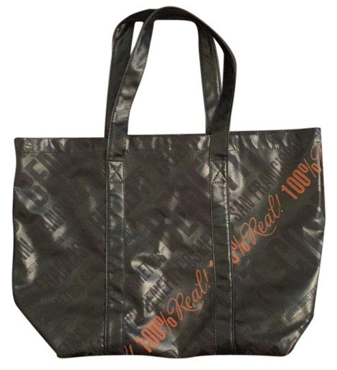 Benefit Tote in Grey/orange