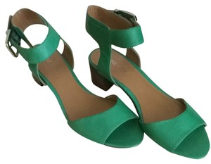 Nine West Green Brown Silver Sandals