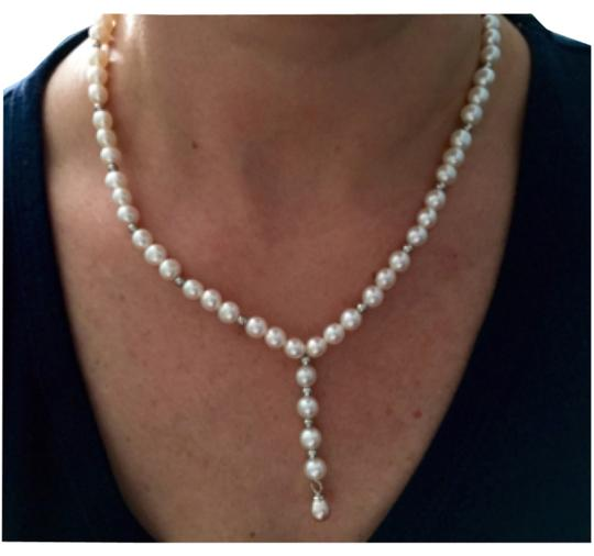 Chinese fresh water pearls, silver clasp Chinese fresh water pearls