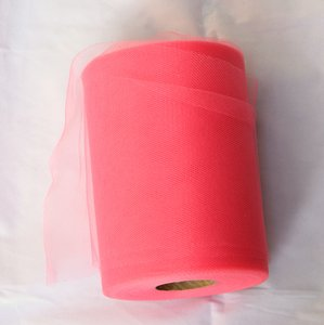 Coral Tulle Huge Roll - 100 Yd X 6 In Tulle Spool - Tulle Roll Free Ship Ceremony Decoration