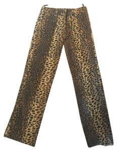 Karen Millen Animal Straight Pants Leopard Print