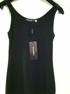 DOLCE & GABBANA Dg & Dg Shell Sleeveless Xs Designer Luxury Evening Wear Shirt Top Black