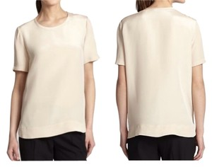 Theory Silk Basics T Shirt Nude