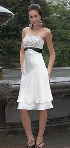 Alexia Designs Ivory / Black Style 828 Dress