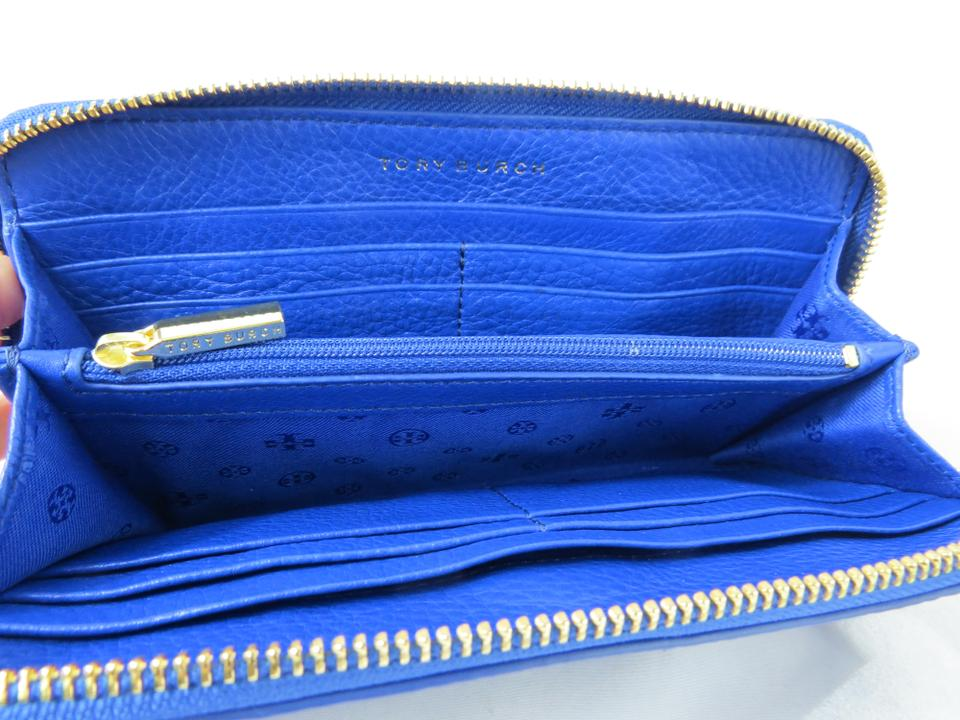 6f66dd1420e Tory Burch Tory Burch Bloomingdale s Zip Around Leather Wallet Jelly Blue.  1234567