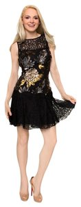 Nicole Miller Sequin Lace Dress