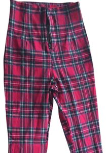 Forever 21 Red Plaid Leggings