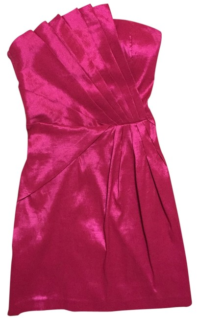 Preload https://item4.tradesy.com/images/romeo-and-juliet-couture-fuschia-taffeta-fan-pleated-strapless-mid-length-cocktail-dress-size-00-xxs-5526358-0-0.jpg?width=400&height=650