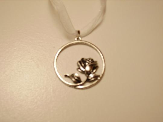 Other Whimsical Rose Ribbon Necklace