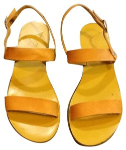 Ancient Greek Sandals Yellow Sandals