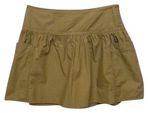 Martin + Osa Full Above Knee Mini Skirt olive green