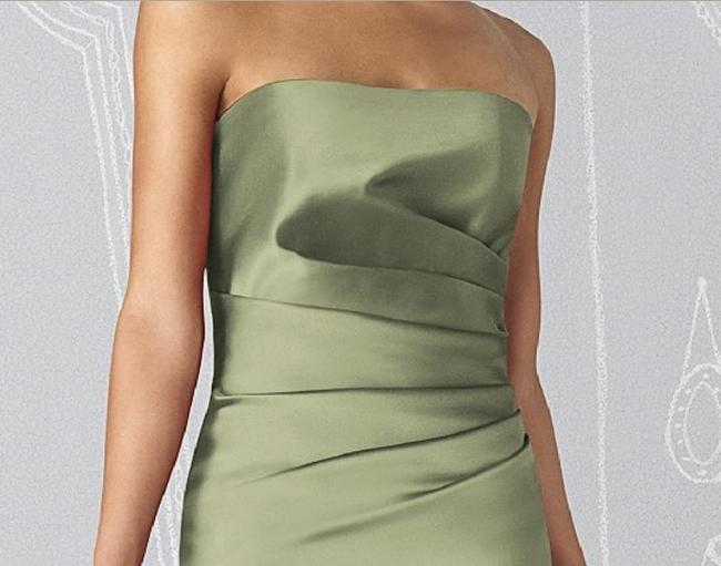 After Six Strapless Cocktail Length Satin Dress