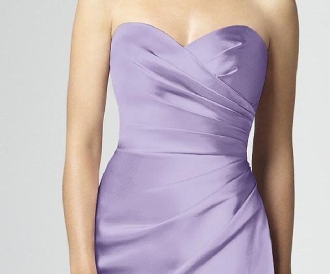 Dessy Full Length Satin Strapless Dress