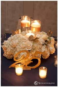 Hand-made Mr. & Mrs For Head Table And Table Numbers 1-40