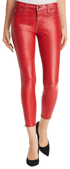 Item - Red Coated 835 Skinny Jeans Size 28 (4, S)