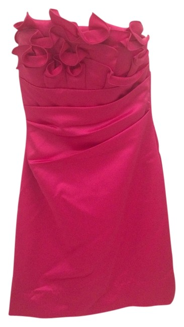 Preload https://item1.tradesy.com/images/phoebe-couture-fuchsia-ruffle-bodice-satin-sheath-above-knee-cocktail-dress-size-4-s-5528470-0-0.jpg?width=400&height=650