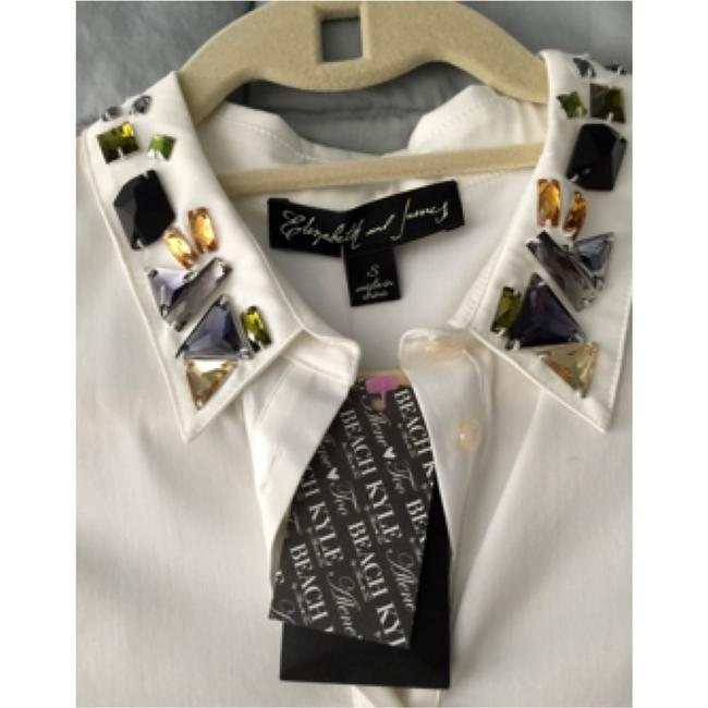 Elizabeth and James Button Down Shirt White