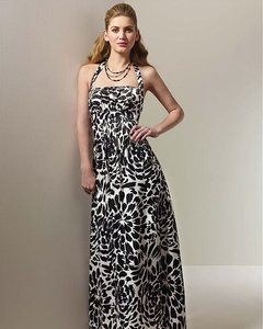 Alfred Angelo White / Black Print Style 7060 Dress
