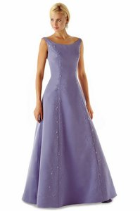 Alexia Designs Victorian Lilac Satin Style 1608 Formal Bridesmaid/Mob Dress Size 8 (M)