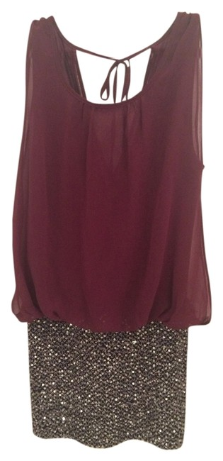Do & Be short dress Plum and Silver Sequin on Tradesy