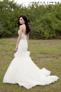 Jim Hjelm Ivory 8151 Formal Dress Size 2 (XS)