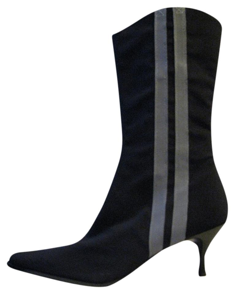 Donald J. Pliner Black with Boots/Booties Grey Stripes Ryoko Boots/Booties with 51ebc5