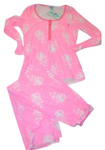 Bed Head BH by Bed Head Pajamas-Hot Pink Floral Pajamas-Size XL-Brand New with Tags