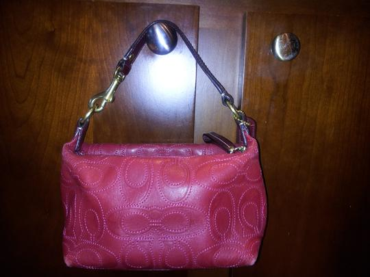 Coach Mini Mini Satchel in Red