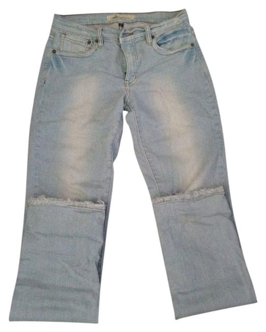M2F Distressed Light Wash Relaxed Fit Straight Leg Jeans-Light Wash